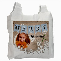 Christmas By Joely   Recycle Bag (two Side)   0yshw1d89ktg   Www Artscow Com Front
