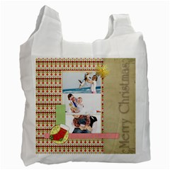 Christmas By Joely   Recycle Bag (two Side)   2yv6u54nvlei   Www Artscow Com Front