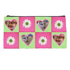 Pink And Green Pencil Case By Deborah   Pencil Case   Rvxdpidymwzp   Www Artscow Com Front