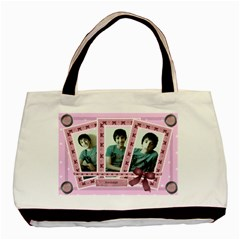 Pink Triple Frame Bag By Claire Mcallen   Basic Tote Bag (two Sides)   3mdg5aet2loa   Www Artscow Com Front