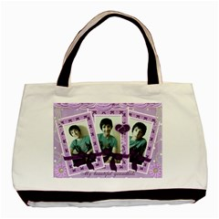 Lilac Triple Frame Bag By Claire Mcallen   Basic Tote Bag (two Sides)   Vpg7v2p4siny   Www Artscow Com Front