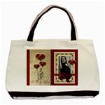 Red Valentines Love Bag - Basic Tote Bag