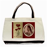 Red  Lace Valentines Love Bag - Basic Tote Bag