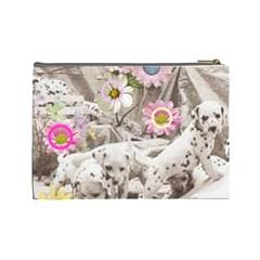 Puppy Love 2 By Birkie   Cosmetic Bag (large)   Ewm0phophvgj   Www Artscow Com Back