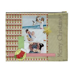 Christmas By Joely   Cosmetic Bag (xl)   Ohpt3vgcoxfu   Www Artscow Com Back