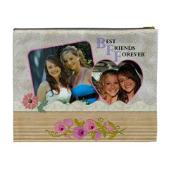 Best Friends Forever Xl Cosmetic Bag By Lil    Cosmetic Bag (xl)   2yzx7ddrapw1   Www Artscow Com Back