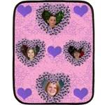 heart blanket - Fleece Blanket (Mini)