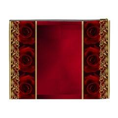 My Rose Xl Cosmetic Bag By Deborah   Cosmetic Bag (xl)   T2qa8y2ri7fh   Www Artscow Com Back