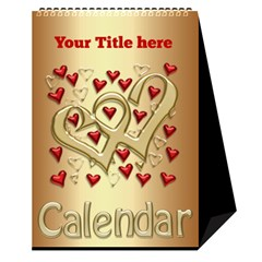 Our Love Calendar (any Year) By Deborah   Desktop Calendar 6  X 8 5    Gcg8mntloca7   Www Artscow Com Cover