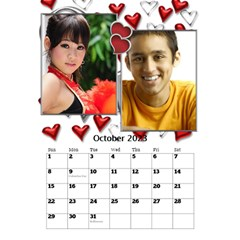 Our Love Calendar (any Year) By Deborah   Desktop Calendar 6  X 8 5    Gcg8mntloca7   Www Artscow Com Oct 2017