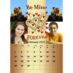 Our Love Calendar (any Year) By Deborah   Desktop Calendar 6  X 8 5    Gcg8mntloca7   Www Artscow Com Feb 2017