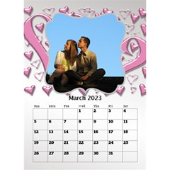 Our Love Calendar (any Year) By Deborah   Desktop Calendar 6  X 8 5    Gcg8mntloca7   Www Artscow Com Mar 2017