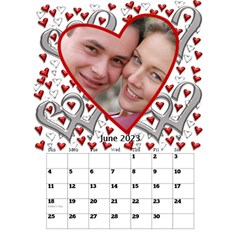 Our Love Calendar (any Year) By Deborah   Desktop Calendar 6  X 8 5    Gcg8mntloca7   Www Artscow Com Jun 2017