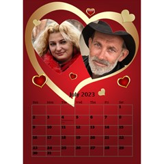 Our Love Calendar (any Year) By Deborah   Desktop Calendar 6  X 8 5    Gcg8mntloca7   Www Artscow Com Jul 2017