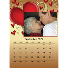 Our Love Calendar (any Year) By Deborah   Desktop Calendar 6  X 8 5    Gcg8mntloca7   Www Artscow Com Sep 2017