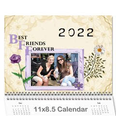 Best Friends Forever Calendar (12 Month) By Lil    Wall Calendar 11  X 8 5  (12 Months)   1b3xyld5tynk   Www Artscow Com Cover