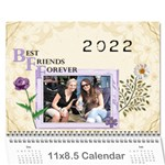 Best Friends Forever Calendar (12 Month) - Wall Calendar 11  x 8.5  (12-Months)