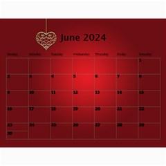 Valentine Wall Calendar (any Year) By Deborah   Wall Calendar 11  X 8 5  (12 Months)   Y51wilv4ko9b   Www Artscow Com Jun 2017