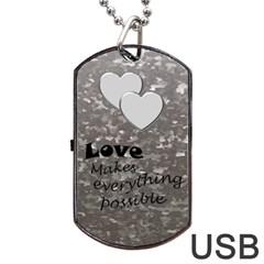 Military Love (2 Sided) Dog Tag Usb By Deborah   Dog Tag Usb Flash (two Sides)   E2oy8xgrm968   Www Artscow Com Back