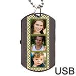 6 frame Dog Tag USB (2 sided) - Dog Tag USB Flash (Two Sides)