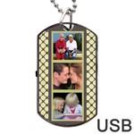 6 frame Dog Tag USB 2 (2 sided) - Dog Tag USB Flash (Two Sides)