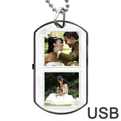 Marriage Dog Tab Usb (2 Sided) By Deborah   Dog Tag Usb Flash (two Sides)   O5do688wwrdz   Www Artscow Com Back