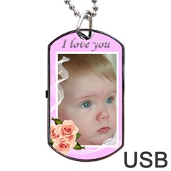 Love You Dog Tag Usb (2 Sided) By Deborah   Dog Tag Usb Flash (two Sides)   Ct603dn3h1x0   Www Artscow Com Front