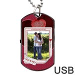 You and Me Tag USB Flash (Two Sides)  - Dog Tag USB Flash (Two Sides)