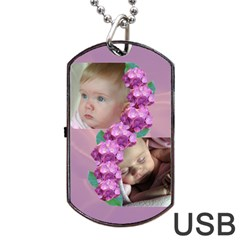 Precious Dog Tag Usb (2 Sided) By Deborah   Dog Tag Usb Flash (two Sides)   2ji0dxg1tdwi   Www Artscow Com Front