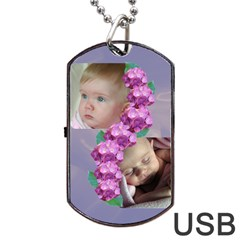 Precious Dog Tag Usb (2 Sided) By Deborah   Dog Tag Usb Flash (two Sides)   2ji0dxg1tdwi   Www Artscow Com Back