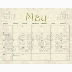 Large Wall  love  Calendar 2015 Red And Gold  By Claire Mcallen   Wall Calendar 11  X 8 5  (12 Months)   3xpqjirggr70   Www Artscow Com May 2015