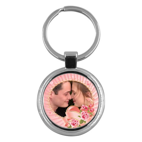 Our Love Key Chain By Deborah   Key Chain (round)   7of6yqvnutqz   Www Artscow Com Front