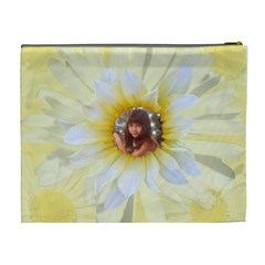 Daisy Xl Cosmetic Bag By Kim Blair   Cosmetic Bag (xl)   Njh95sjefcgu   Www Artscow Com Back