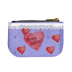 Be My Valentine, Fun Blue Mini Coin Purse By Claire Mcallen   Mini Coin Purse   Itgfbi2tdanl   Www Artscow Com Back