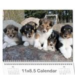 puppy calendar - Wall Calendar 11  x 8.5  (12-Months)