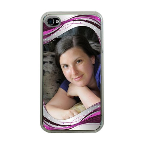 Pink Wave Apple Iphone 4 Case (clear) By Deborah   Apple Iphone 4 Case (clear)   Mbd11iyzlx9a   Www Artscow Com Front