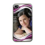 Pink wave Apple iPhone 4 case (clear)