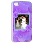 purple flower Apple iPhone 4/4s case - Apple iPhone 4/4s Seamless Case (White)