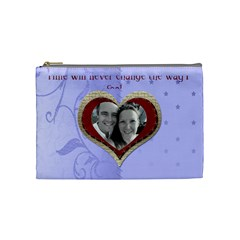 Red Heart With Cherubs Cosmetic Bag By Claire Mcallen   Cosmetic Bag (medium)   Jh2ut8la7iyh   Www Artscow Com Front