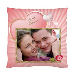 Pink Heart Cushion Case (2 Sided) By Deborah   Standard Cushion Case (two Sides)   I00rsdnx360i   Www Artscow Com Front