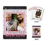 with love - Playing Cards Single Design