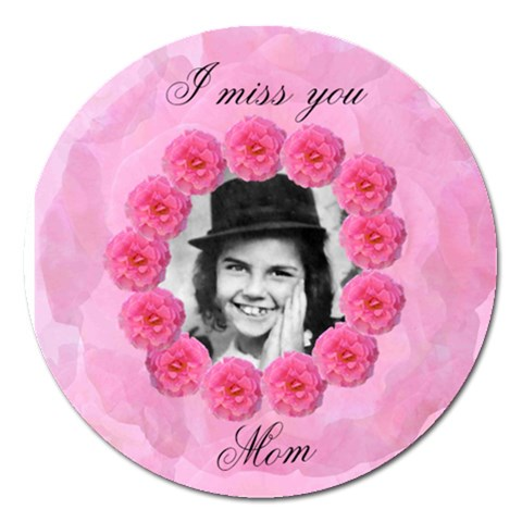 Miss You Mom 5 In  Magnet By Kim Blair   Magnet 5  (round)   X7swav35jwmc   Www Artscow Com Front