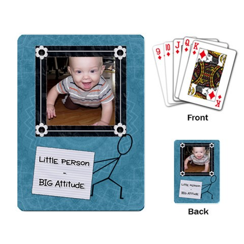 Little Person   Big Attitude Playing Cards By Lil    Playing Cards Single Design   Sj5isnnhwkv0   Www Artscow Com Back