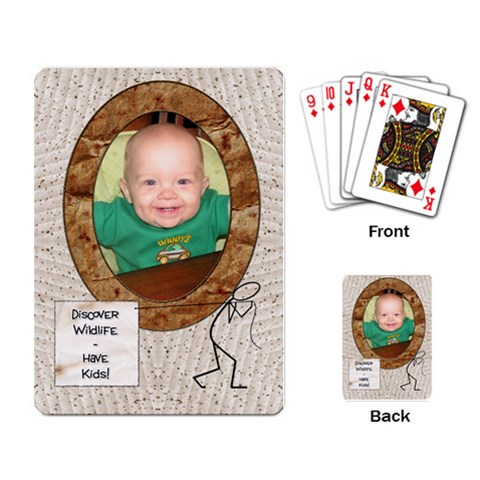 Discover Wildlife   Have Kids Playing Cards By Lil    Playing Cards Single Design   Fg05su910iud   Www Artscow Com Back