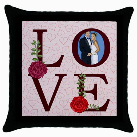 Love  By Joely   Throw Pillow Case (black)   Nb18dbfsoe1u   Www Artscow Com Front