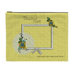 Xl Cosmetic Bag: Beautiful Life By Jennyl   Cosmetic Bag (xl)   5u2vkc5wapz2   Www Artscow Com Front