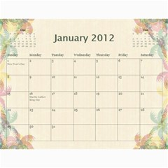 The Best One By Karen Bailey   Wall Calendar 11  X 8 5  (12 Months)   G9ojtrhim08i   Www Artscow Com Jan 2012