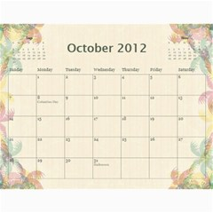 The Best One By Karen Bailey   Wall Calendar 11  X 8 5  (12 Months)   G9ojtrhim08i   Www Artscow Com Oct 2012