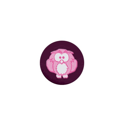Pink Owl By Patricia W   1  Mini Magnet   Imxrtk4qhi63   Www Artscow Com Front