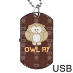 owlry - Dog Tag USB Flash (One Side)